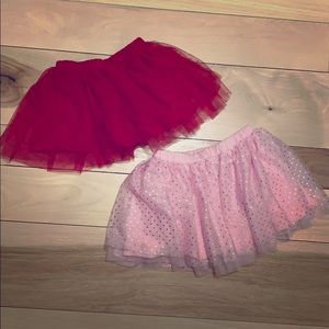Two tulle skirts